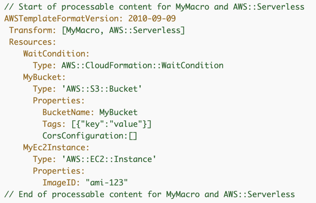 Full template scope (from AWS documentation)